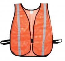 """Heavy Weight Safety Vest - 1-3/8"""" Silver Reflective"""