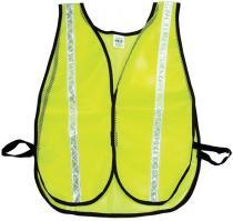 Lime Soft Mesh Safety Vest - 1inch White