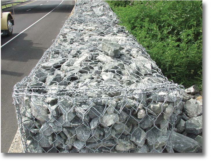 Galvanized pvc coated gabion baskets flagging direct